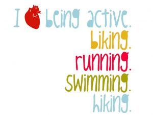 i heart being active